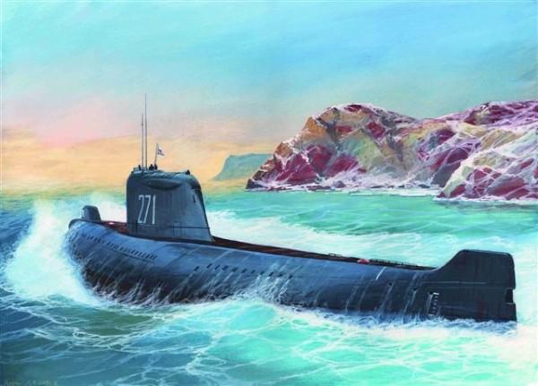 Byggmodell ubåt - K-19 SOV.NUCL.SUGM. HOTEL CL. Widowmaker - 1:350 - Zvezda