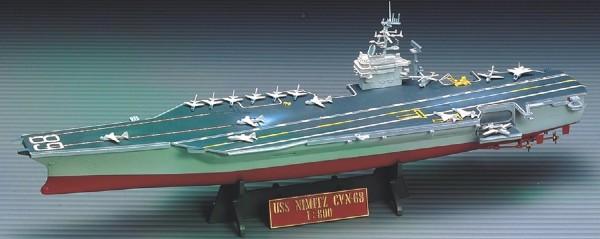 Byggmodell krigsfartyg - CVN 68 USS Nimiz - 1:800-  Academy