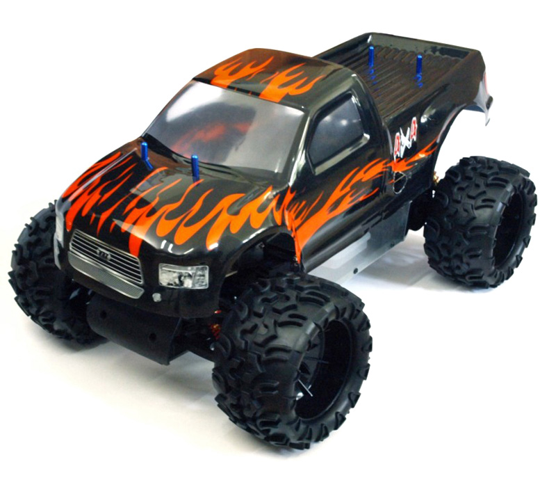 RC Bensin bil - 1:5 - Monster Truck Blaze - Off-road - 2WD - 2.4GHz - RTR