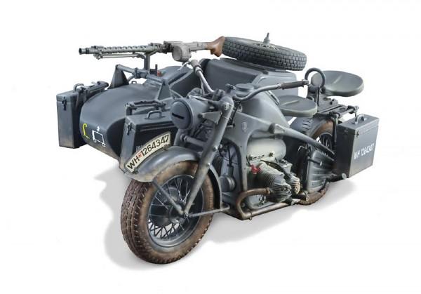 Byggmodell motorcykel - Zundapp KS 750 with Side Car - 1:9 - Italieri