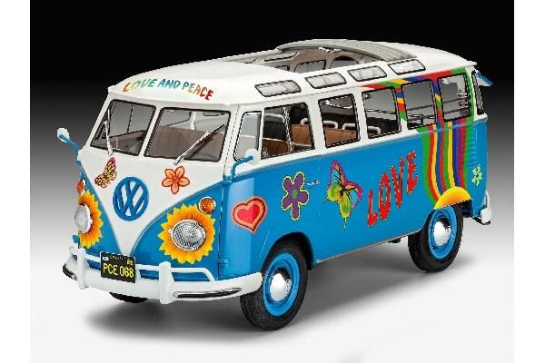 Byggmodell bil - VW T1 Samba Bus Flower Power - 1:24 - Revell