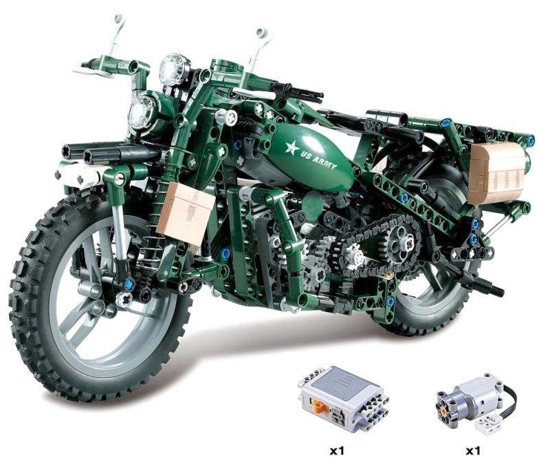 RC bygg modell - CaDA Technic Motorcykel - 2,4Ghz - DE