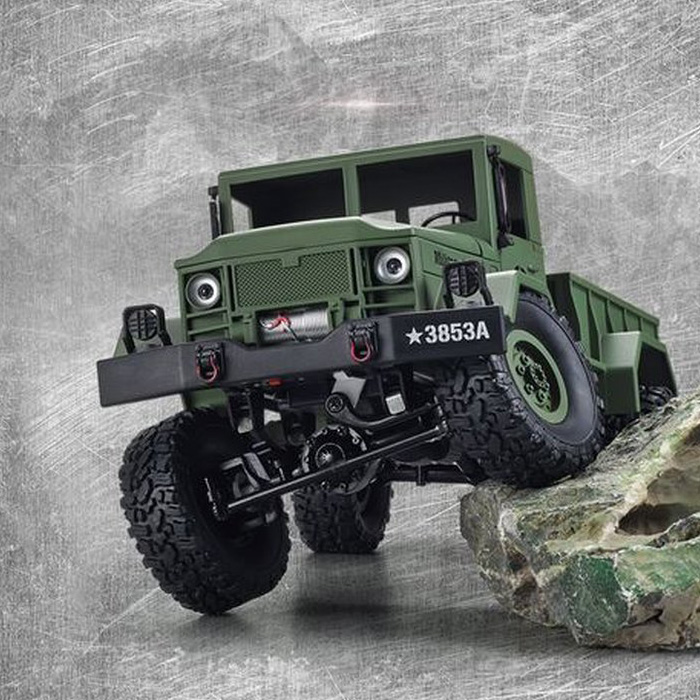 Radiostyrt militär fordon - U.S. Military Truck Grön - 2,4Ghz - RTR