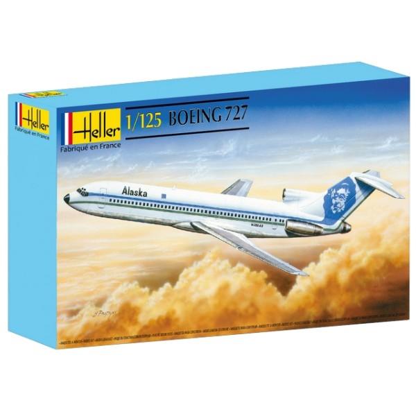 Byggmodell flygplan - Boeing 727 - 1:125 - Heller