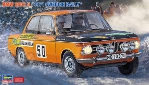 Byggmodell bil - BMW 2002 ti 1971 Swedish Rally Driver Lasse Nyström - 1:24 - Hasegawa