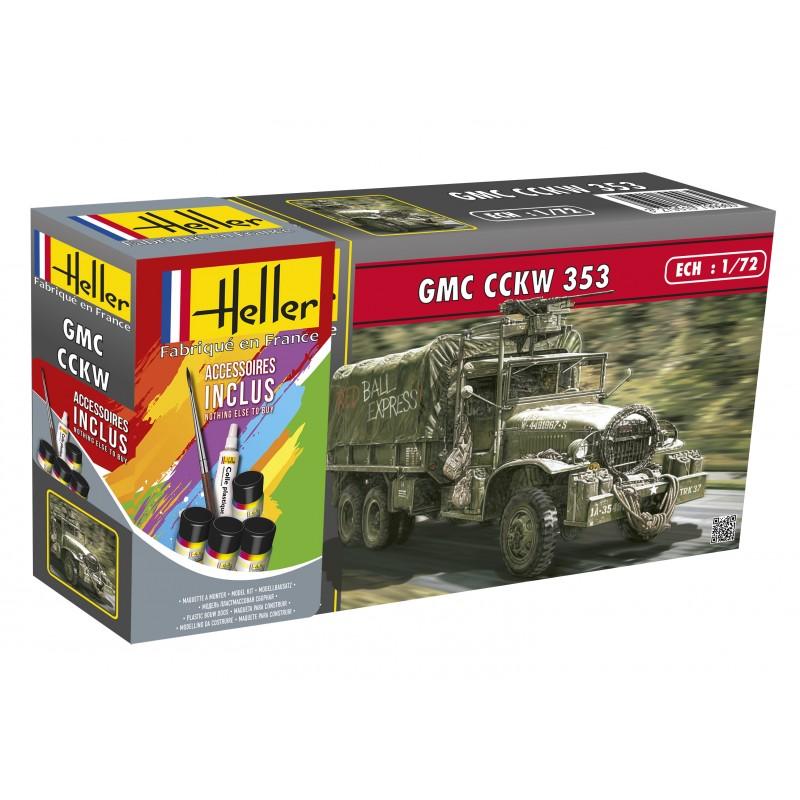 Byggmodell stridsfordon - GMC CCKW 353 - 1:72 - Heller