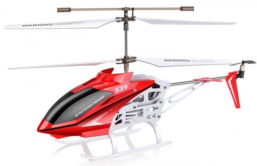 Radiostyrd helikopter - Syma S39-1 Raptor - Röd - 3,5ch - RTF