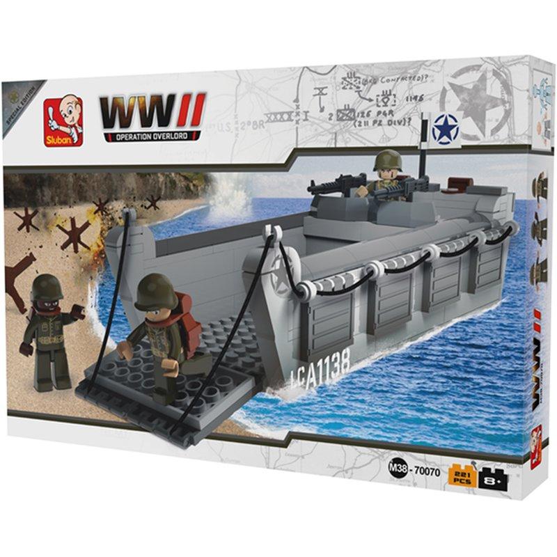 Landningsbåt - Operation Overlord - Byggklossar - Sluban