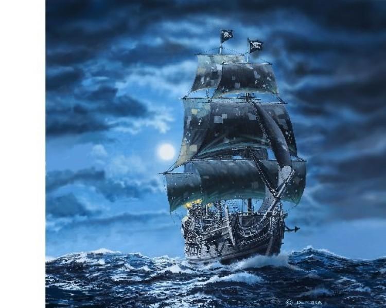 Byggmodell segelbåt - Black Pearl - 1:72 - Revell