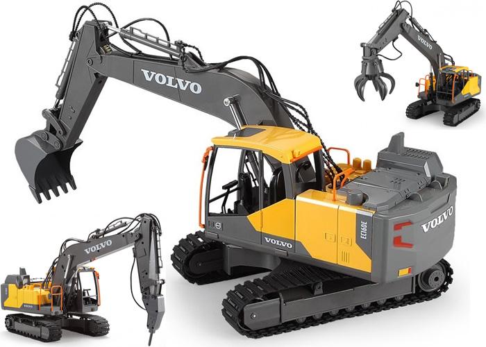 Radiostyrd Volvo grävmaskin - 1:16 - DYI 3 in 1 - 2,4Ghz - RTR