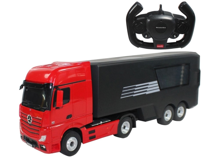 Radiostyrd Lastbil - Mercedes-Benz Actros heli pad - 1:26 - 2,4GHz - RTR
