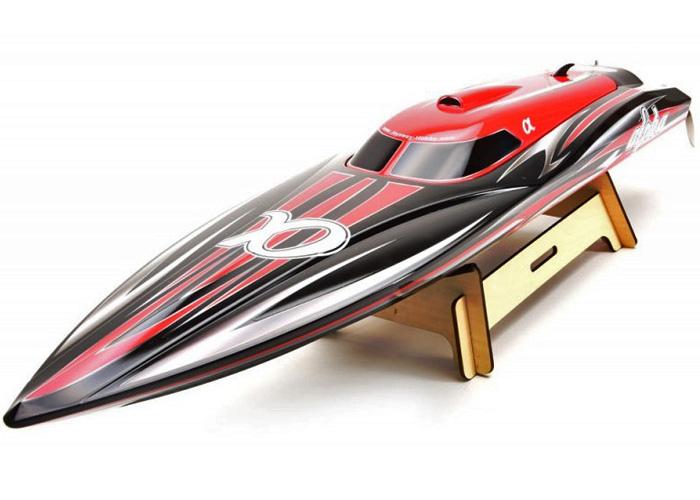 Borstlös rc båt - Alpha - Röd - 2,4Ghz - ARTR