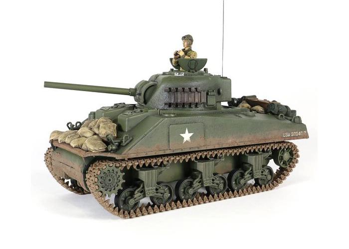 Radiostyrd stridsvagn - M4A3 Sherman F.O.V - IR - 2,4GHz - RTR