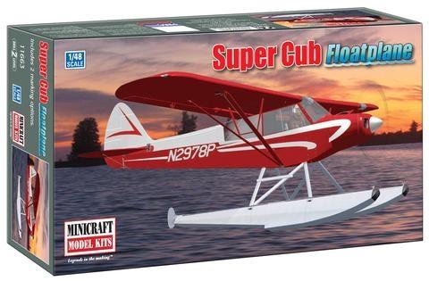 Byggmodell sjöflygplan - Piper Super Cub Float Plane - 1:48 - MiniCraft