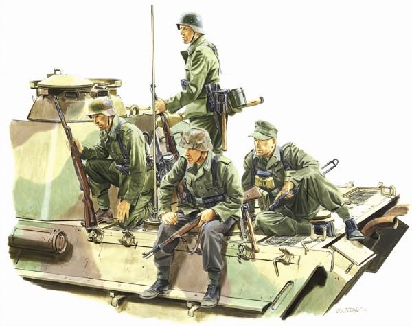 Byggmodell gubbar - Panzer Riders, (Lorraine 1944) - 1:35 - Dragon