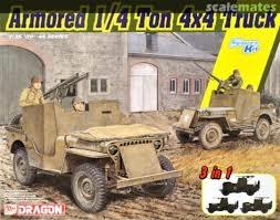 Byggmodell stridsfordon - Armored 1/4-Ton 4X4 Truck - 1:35 - Dragon