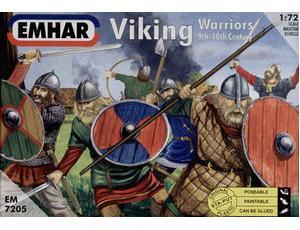 Byggmodell gubbar - Vikings 50 fig. - 1:72-  Emhar
