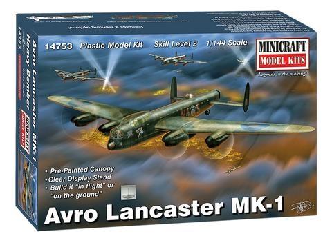 Byggmodell flygplan - Avro Lancaster - 1:144  - MiniCraft