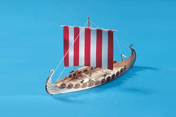 Byggmodell båt - Mini Oseberg - Wooden hull - 1:50 - Billing Boats