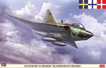 Byggmodell flygplan - J35/S35E/Rf-35 Draken - 1:48 - Hasegawa