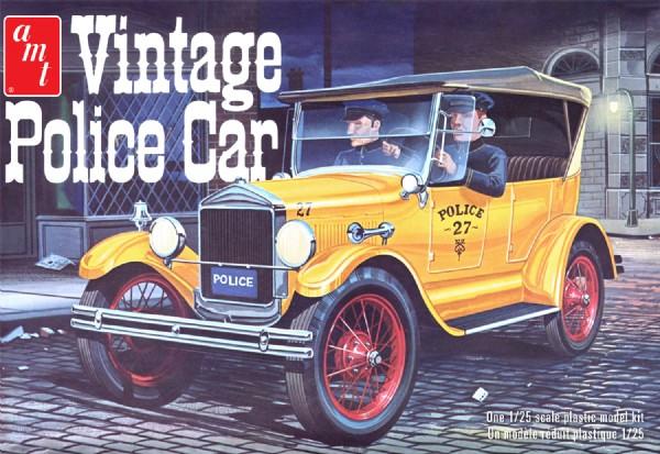 Byggmodell bil - 1927 Ford T Vintage Police Car - 1:25 - AMT