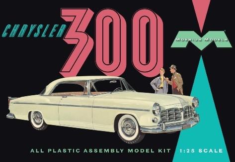 Byggmodell bil - 1955 Chrysler 300 - 1:25 - Moebius