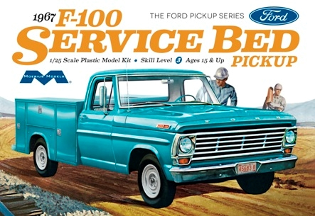 Byggmodell bil - 1967 Ford F100 Service Bed Pickup 1:25 Moebius