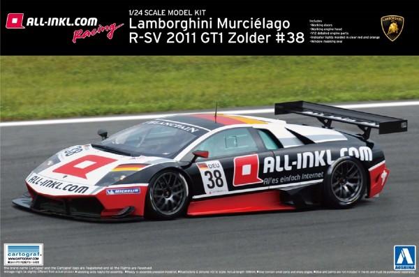 Byggmodell bil - Lamborghini Murcielago 2011 Gt1 - 1:24 - Aoshima