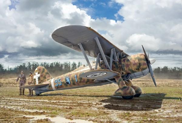Byggmodell flygplan - FIAT CR.42 Falco - 1:48 - Italieri