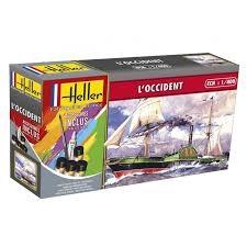Byggmodell segelbåt - Le Occident komplett med färg lim och pensel - 1:400 - Heller