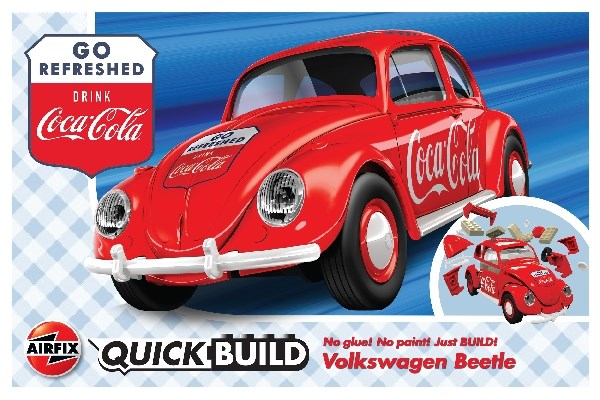Byggklossar - Quick Build Coca-Cola VW Beetle - AirFix