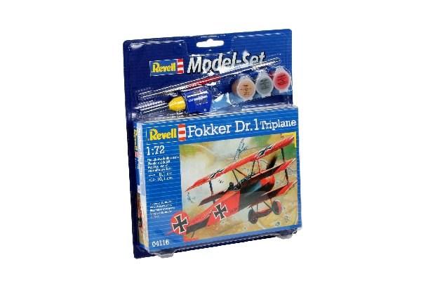 Byggmodell flygplan - Model Set Fokker DR, 1 Triplane - 1:72 - Revell