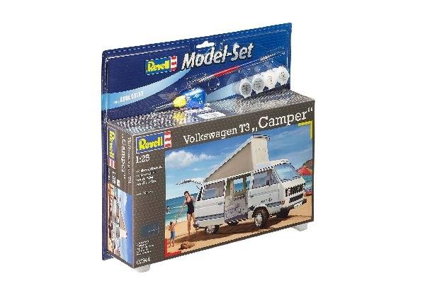 Byggmodell bil - Model Set Volkswagen T3  Camper - 1:25-  Revell