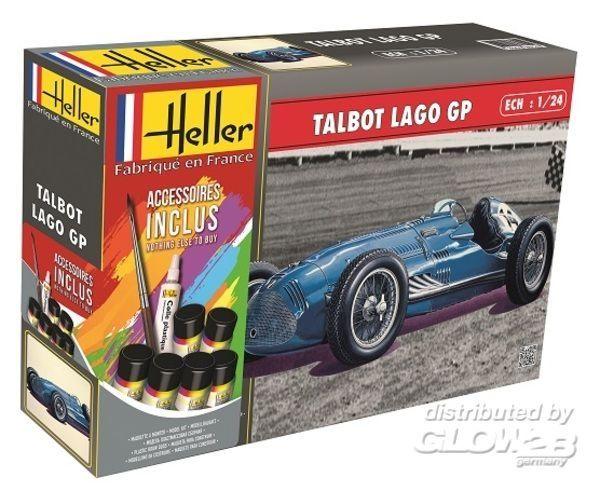 Byggmodell bil - Talbot Lago Gp COMPLETE w. Glue, Paint 1:24 Heller