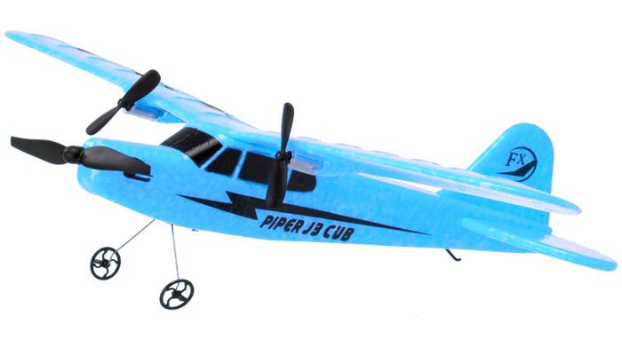 Radiostyrt flygplan - Piper J-3 Cub Blå - FX - RTF