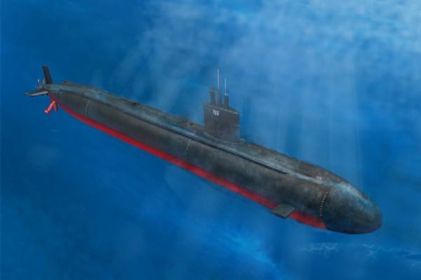 Byggmodell ubåt - USS Los Angeles Class SNN-688/Vls/6881 - 1:350 - HobbyBoss