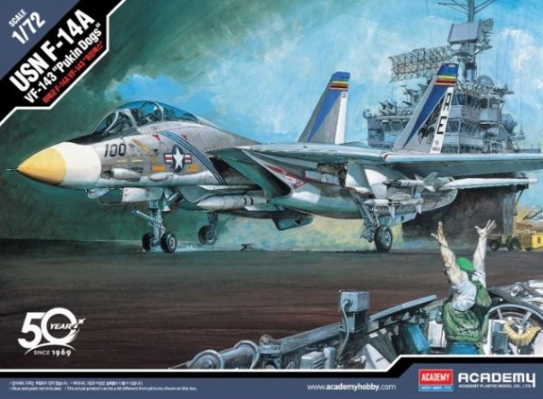 "Byggmodell flygplan - USN F-14A VF-143 ""Pukin Dogs"" 1:72 Academy"