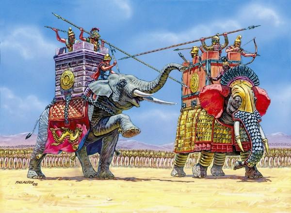 Byggmodell -  War Elephants - 1:72 - Zvezda