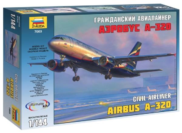 Airbus A320 incl. SAS Decal 1:144 Zvezda
