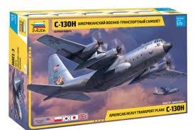 Byggmodell flygplan - C-130 H Hercules - 1:72 - Zvezda
