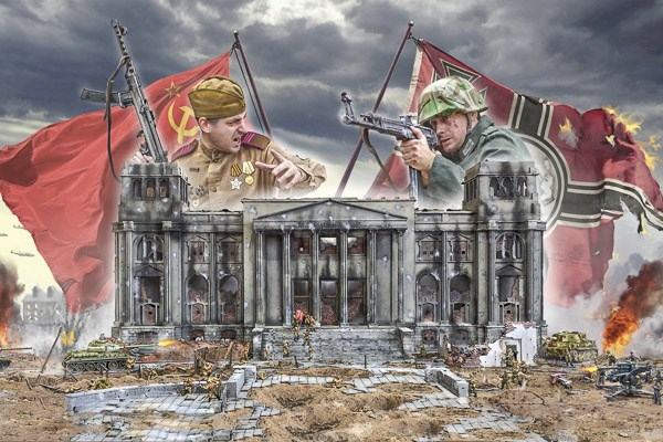 Byggmodell - Battle for the Reichstag Berlin 1945 - 1:72 - Italieri