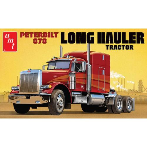 Byggmodell lastbil - Peterbilt 378 Long Hauler Semi Tractor - 1:24 - AMT