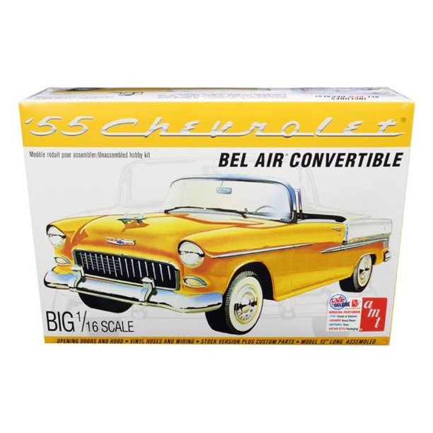 Byggmodell bil - 1955 Chevy Bel Air Convertible - 1:16 - AMT