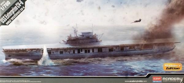 Byggmodell krigsfartyg - USS Enterprise CV-6 - 1:700 - Academy