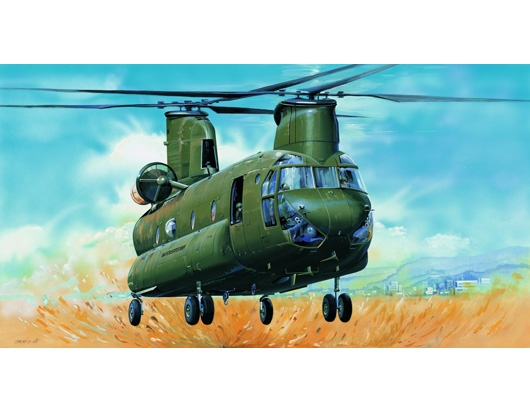 Byggmodell helikopter - Ch-47D Chinook - 1:35 - Trumpeter