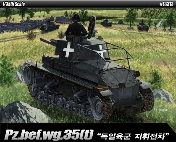 Byggmodell stridsvagn - Pzkpfw35(T) Command t. - 1:35 - Academy