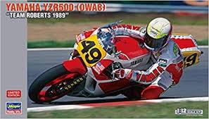Byggmodell motorcykel - YAMAHA YZR500 (0WA8) TEAM ROBERTS 1989 - 1:12 - Hasegawa