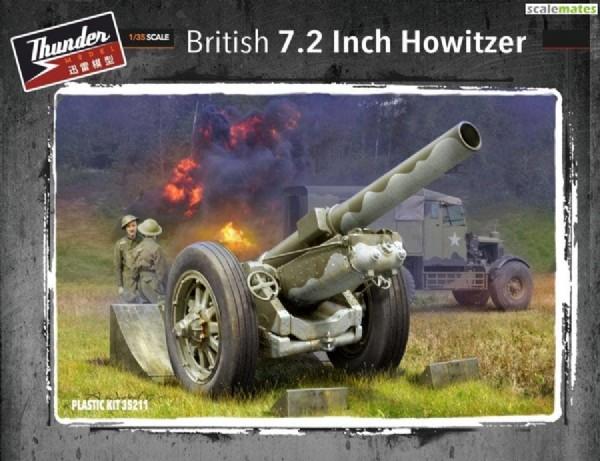 Byggmodell stridsfordon - 7.2 Inch Howitzer 1:35 Thunder Models