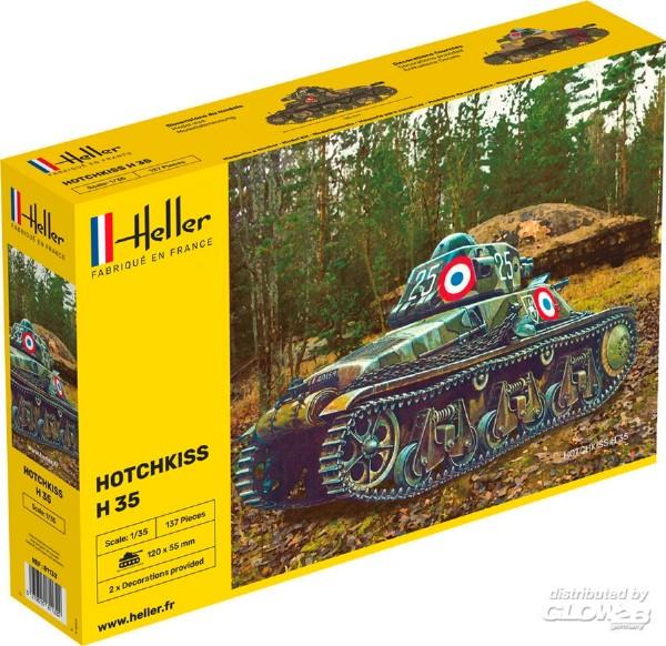 Byggmodell stridsfordon - Hotchkiss - 1:35 - Heller