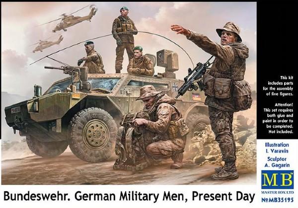 Byggmodell gubbar - Bundeswehr. Present Day - 5 fig. - 1:35 - MasterBox